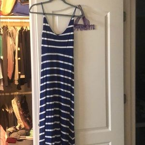 Blue and white maxi dress!